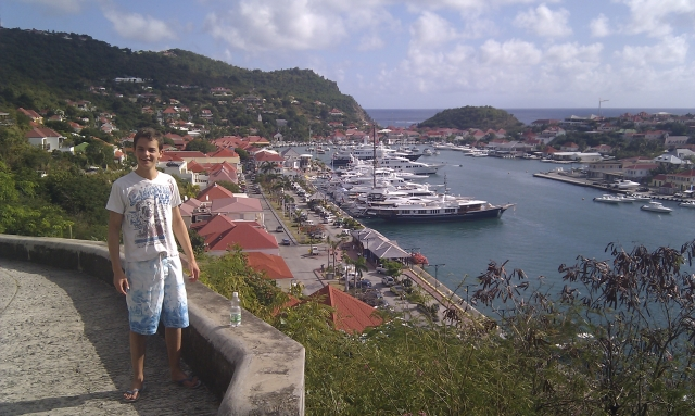 Ben in Gustavia, St. Barth's
