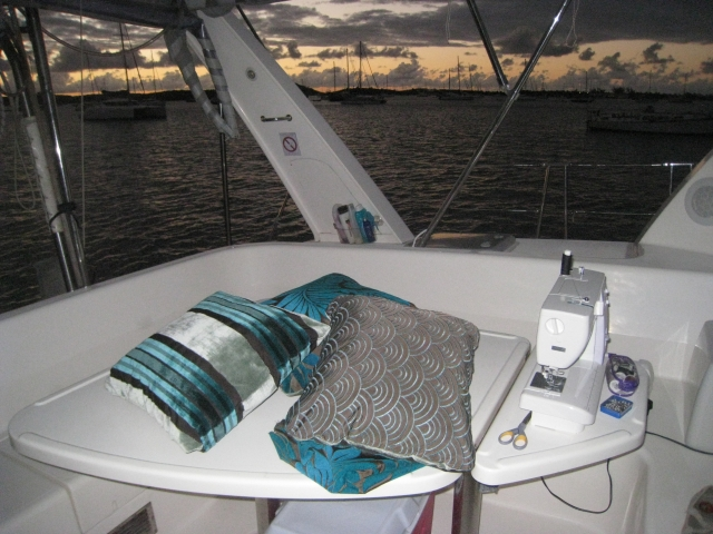 sewing cushions in st martin