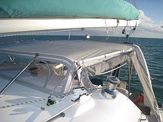 New bimini cover for leopard 42 catamaran