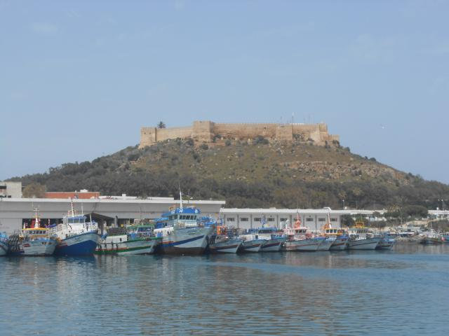 Our first stop in Tunisia was in Kalibia,where we met up with people we met in Marina di Ragusa. We hicked up to this Fort for some amazing views. Bellow is the Harbour where our home is