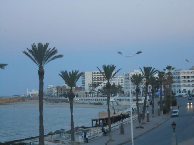 Monastir. The beach just next to the Marina