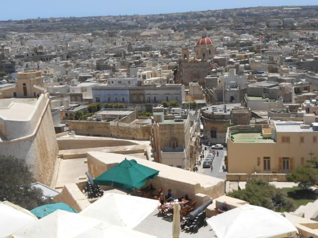 views from citadel in Victoria,Gozo