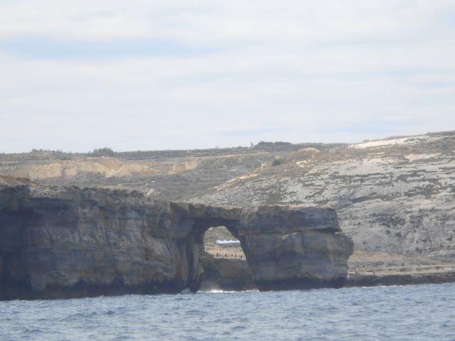 Azure window along the coast just after funghus rock. It was busy with buses and turists evrywhere. We were happy to have the best views and on our own.