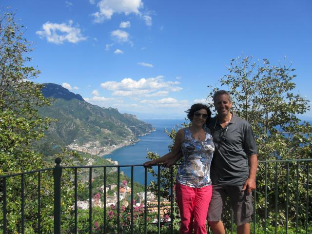 A view of Amalfi from above