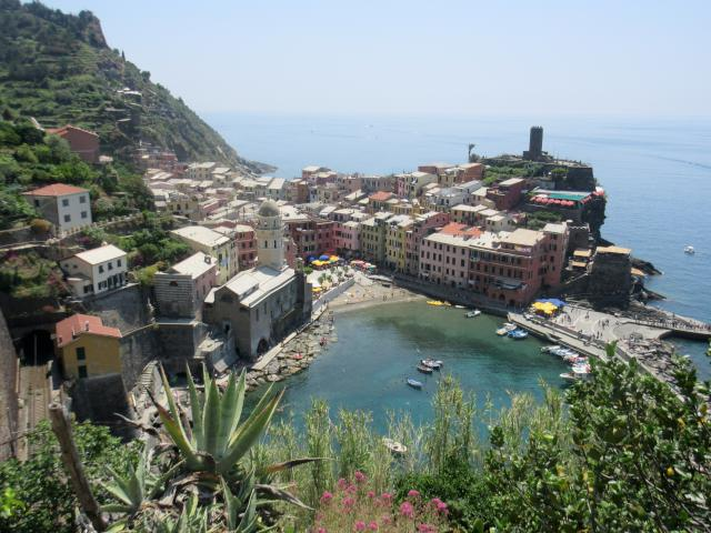 Vernazza from the hike