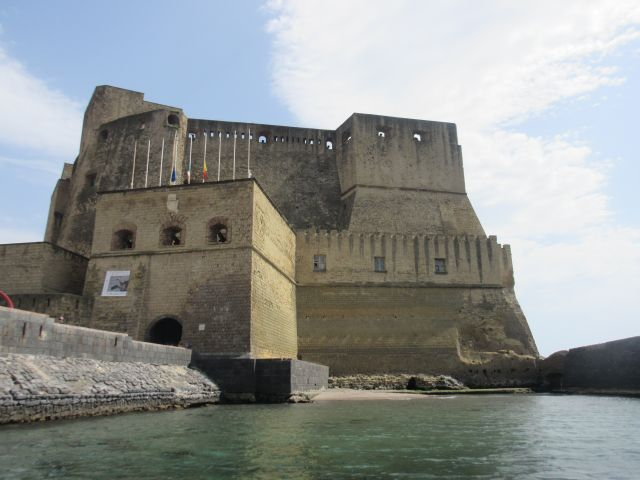 We anchored just next to the castle at Napoli