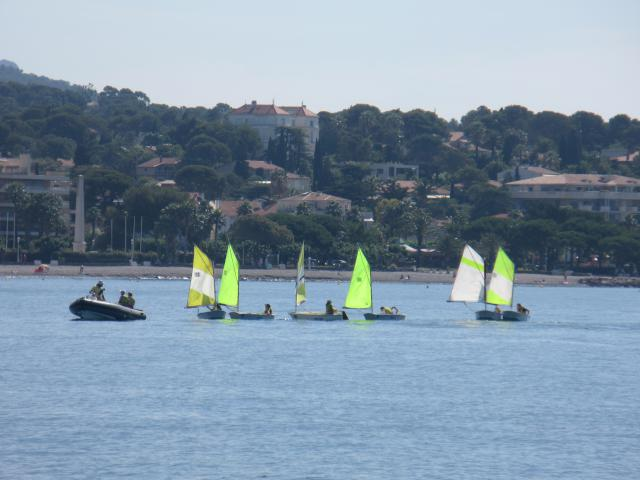 Many, many times we see groups of kids learning to sail and windsurf. So much more than any other Mediterranean country