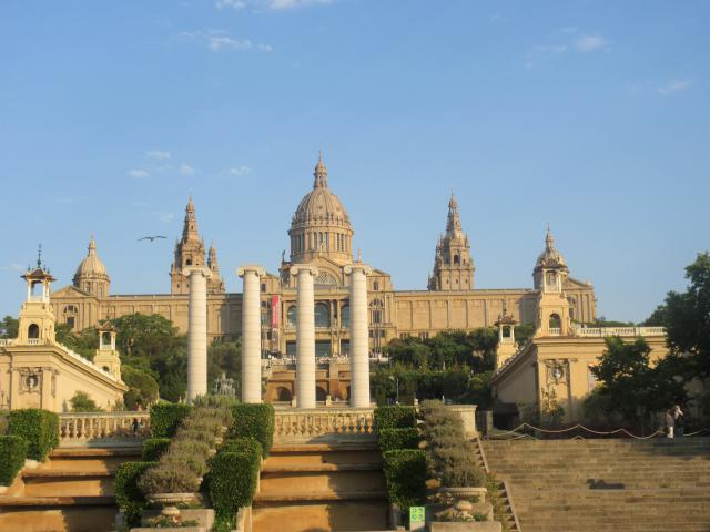Placa d'Espanya. With beautiful fountains, gardens,theatre and museum.
