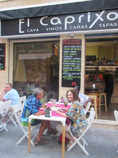tapas nigh...they were good, but much better in Seville. Paella is more their thing in this area of Spain