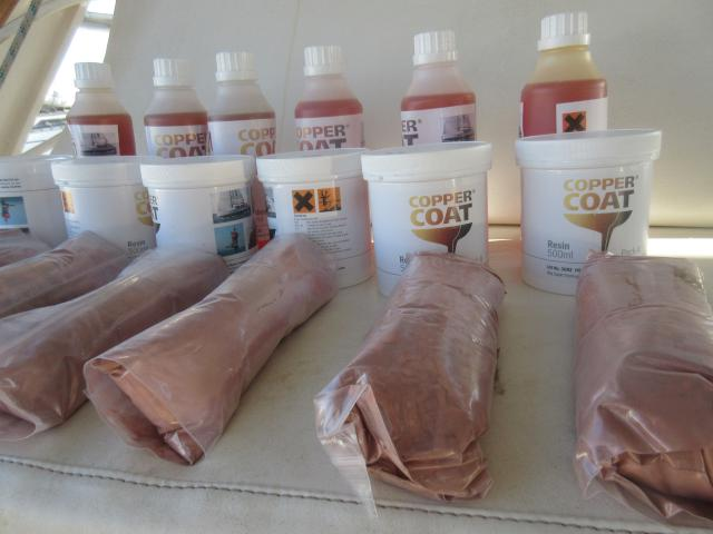 18 packs of CopperCoat - 9 for each hull