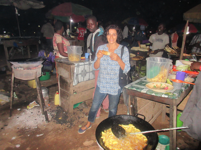 Fast food Ugandan style. Eating in restaurants, however, is far from fast, with meals often taking an hour or more to be prepared.