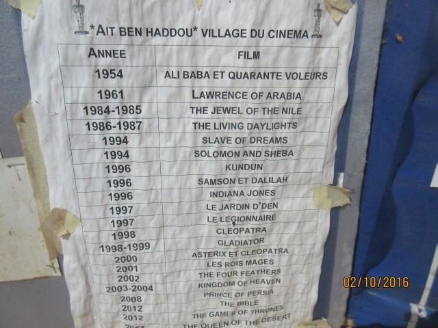 Movies filmed at Ait Ben Haddou